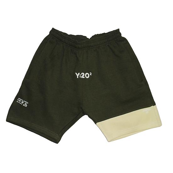 Y:20² Sweat Shorts Olive