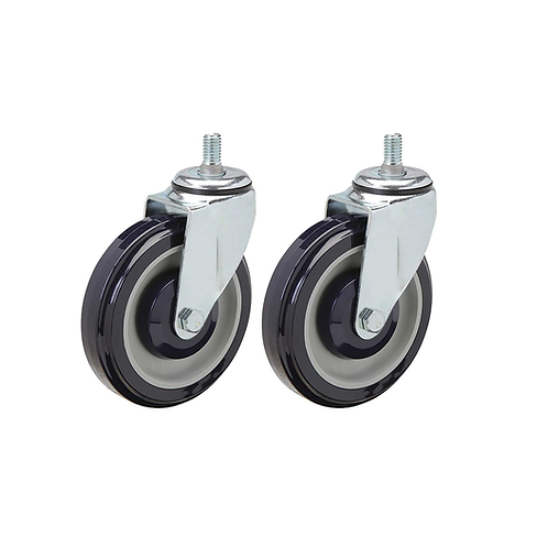 5 Inch Universal Polyurethane Shopping Cart Casters Set of 2