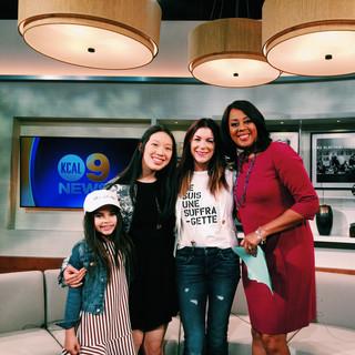 Anna Zhang x TPFG KCAL9 TV Segment