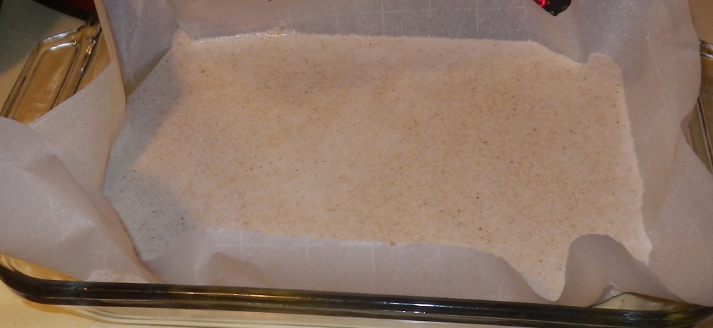 Quinoa batter before baking