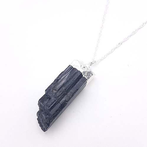 Raw Tourmaline on Sterling Silver Chain