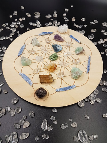 Chakra Clearing Crystal Grid Plate