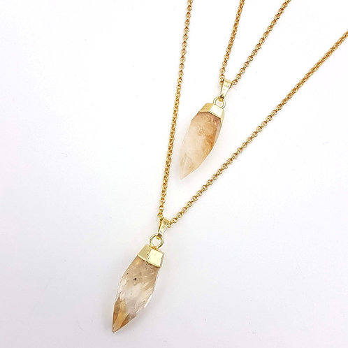 Faceted Citrine Point Pendant