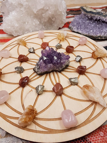 Seed of Life Crystal Grid Plate