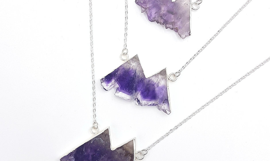 Take Me to the Mountains Necklace -  Amethyst