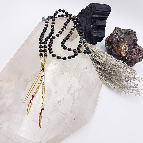 The Onyx Shield Mala