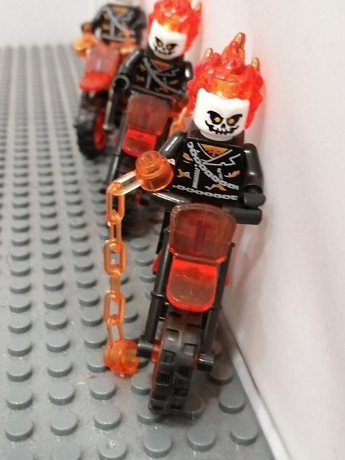 Ghost Rider Mini-figure including bike