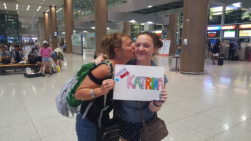 welcoming mum to Incheon Airport, Seoul, South Korea - Life Iitinerant