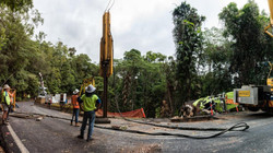 Gillies Range Road piling works
