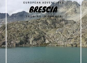 Brescia - snowing in summer
