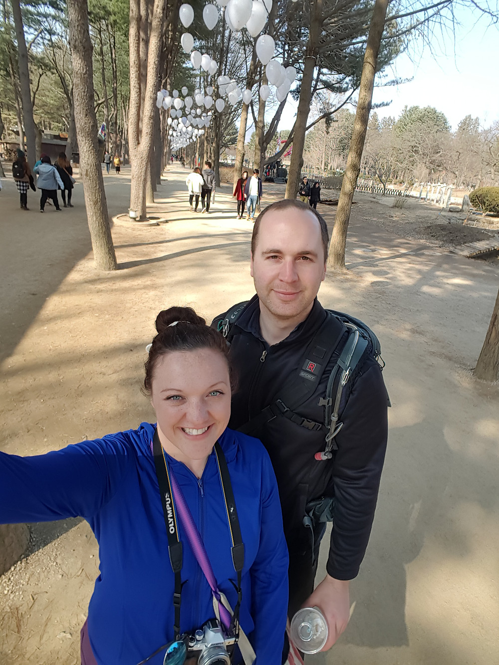 Dean and I at Nami Island, South Korea - Life Itinerant