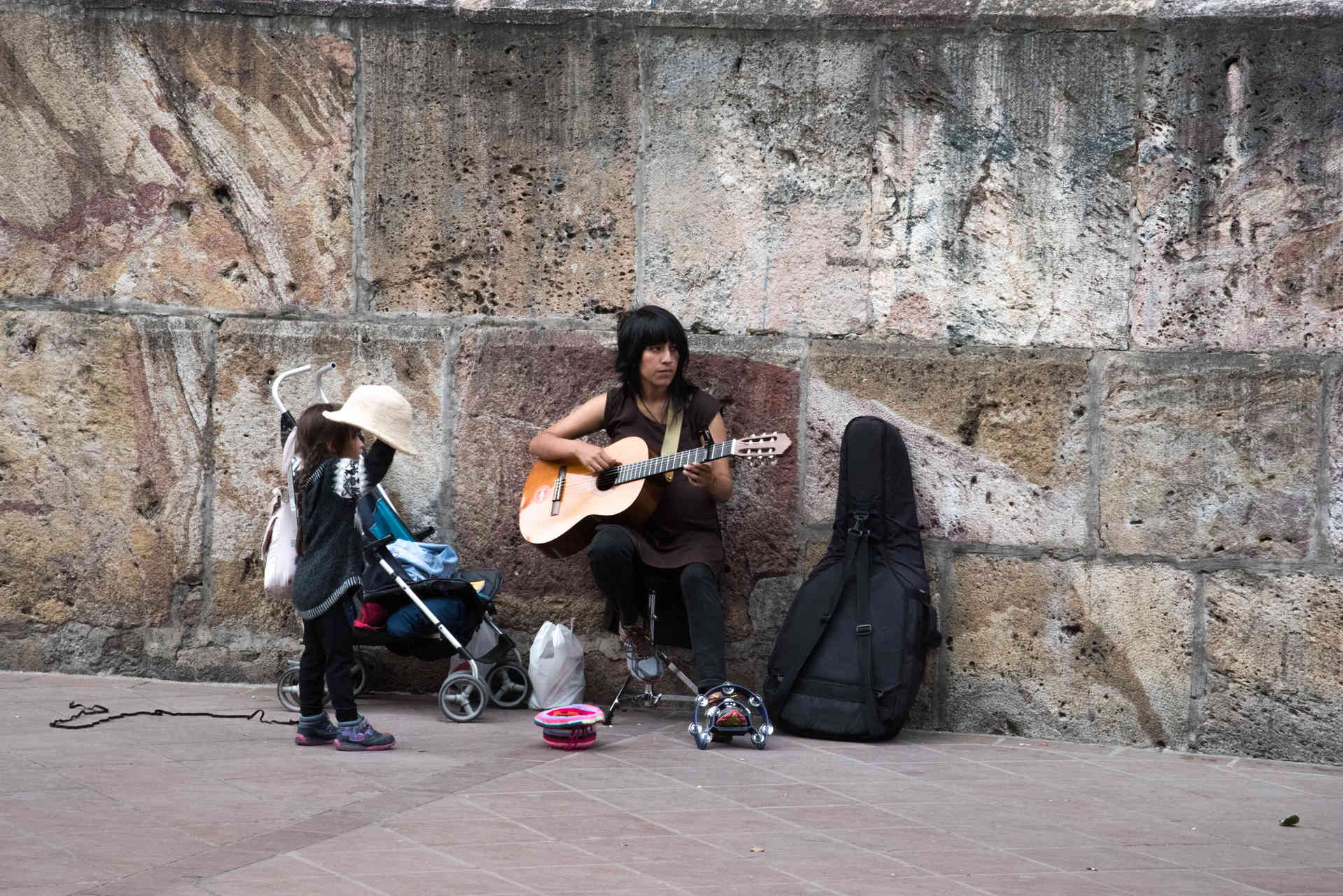 Busking for the family