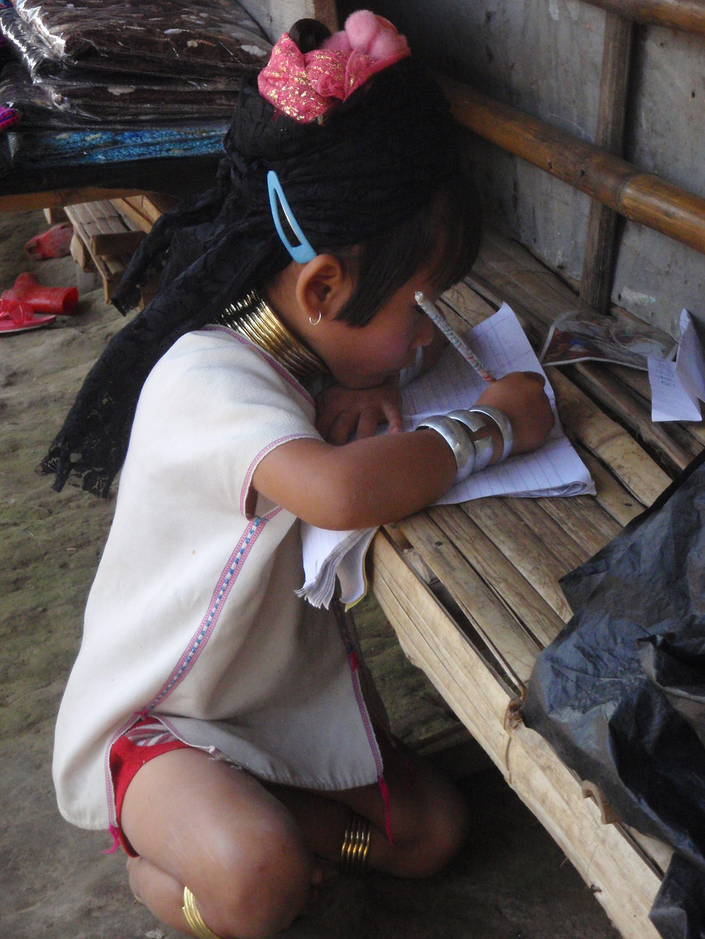 A Karen girl studying in Northwest Thailand near the border with Myanmar- Life Itinerant