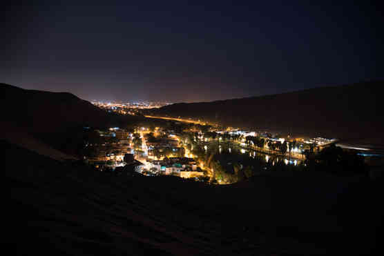 The glow of Huacachina