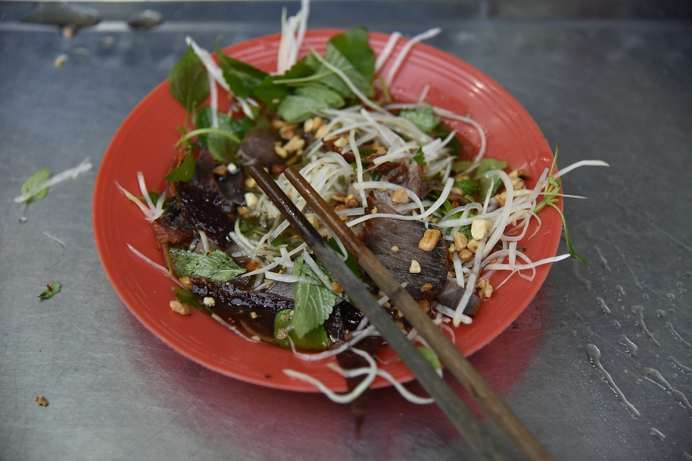 Bird Salad, full of fresh salad, herbs and dried meat - Life Itinerant