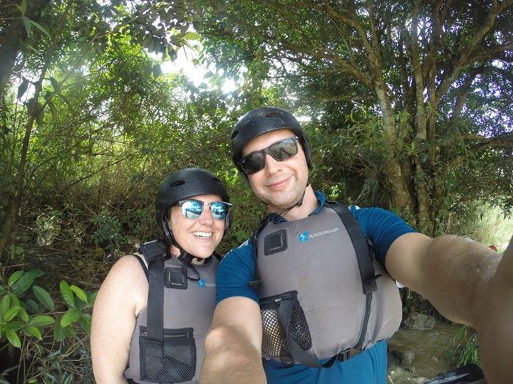 Dean and I, getting ready to tackle the rapids - Lifeitinerant