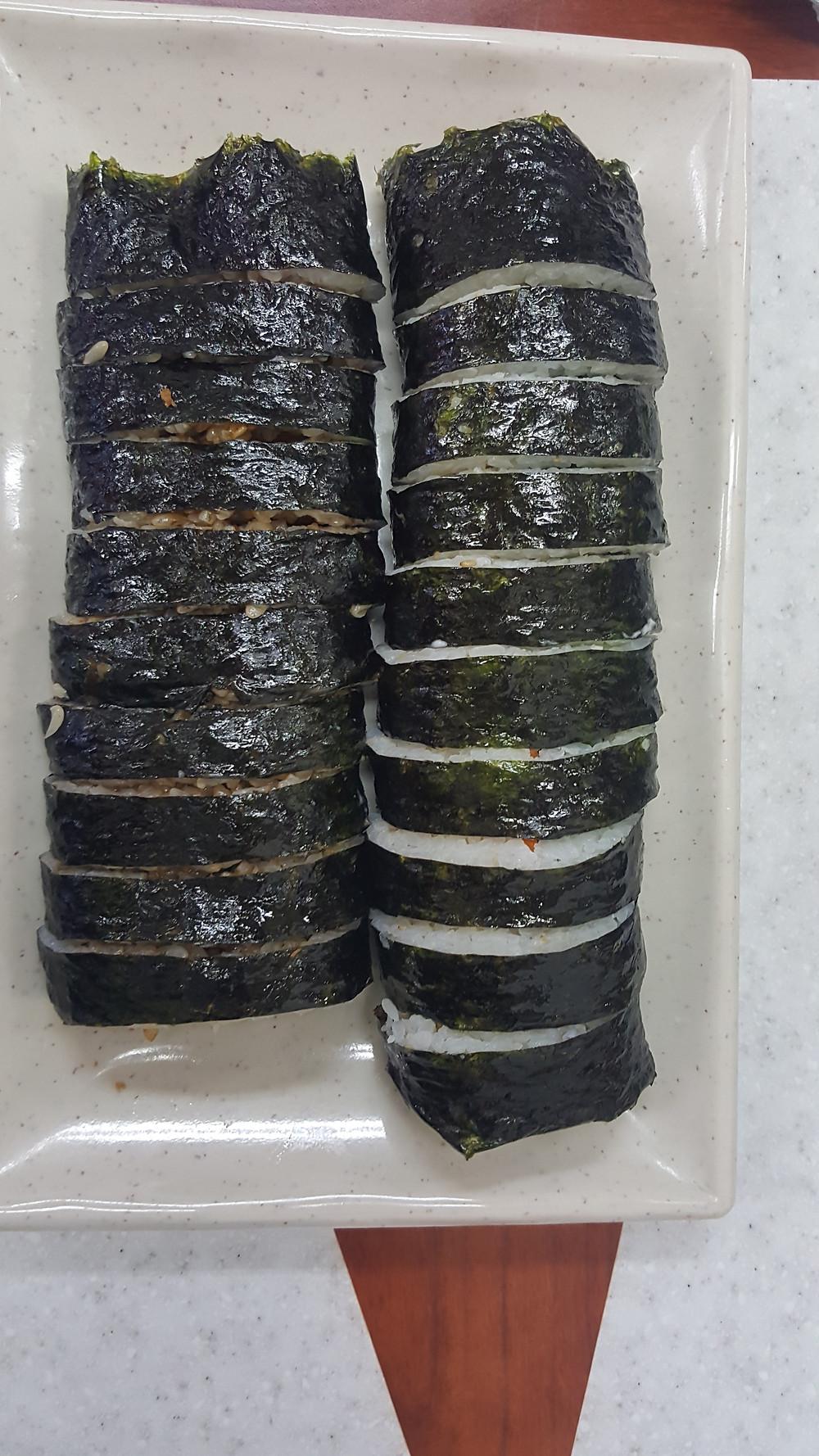 Korean Kimbap - what to eat in Korea - Life Itinerant