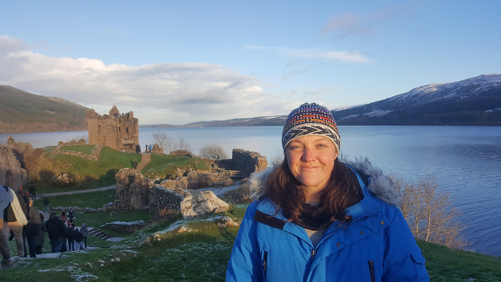 At Urquhart Castle overlooking Loch Ness, Scotland - Life Itinerant