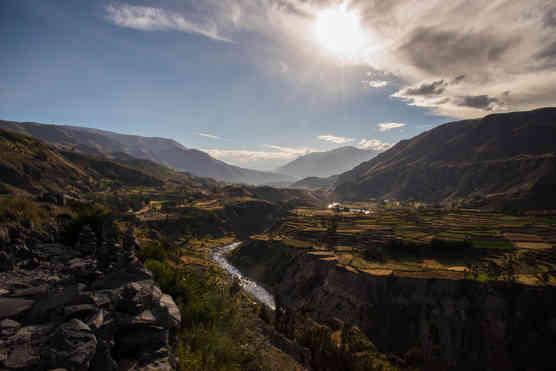 Colca Canyon's shadows