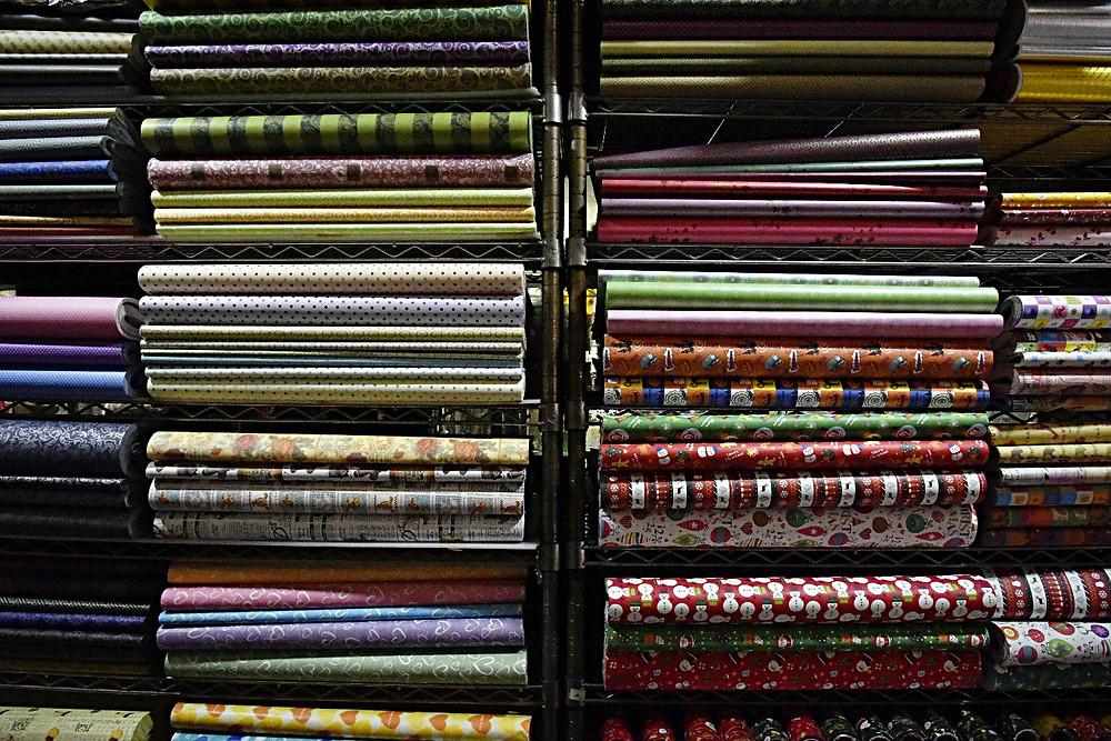 Christmas Wrapping paper Namdaemun markets - Life Itinerant