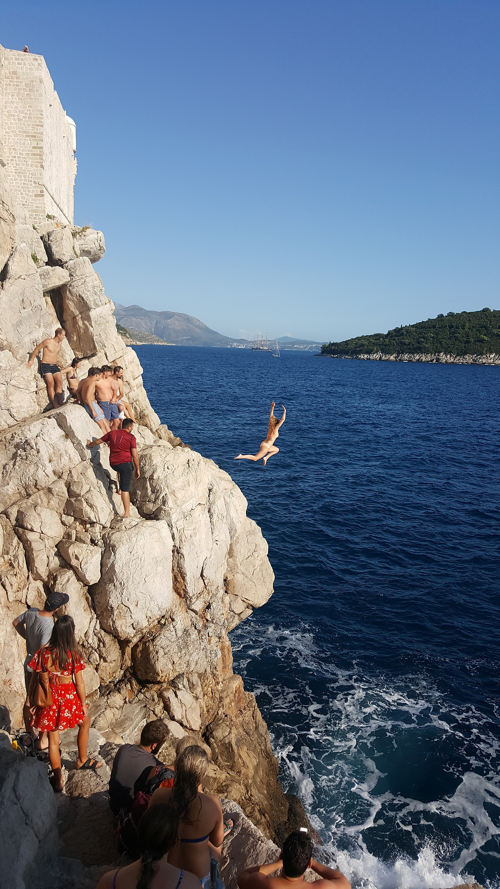 Cliff jumping on the outskirts of the Old Town, Dubrovnik, Croatia - Life Itinerant