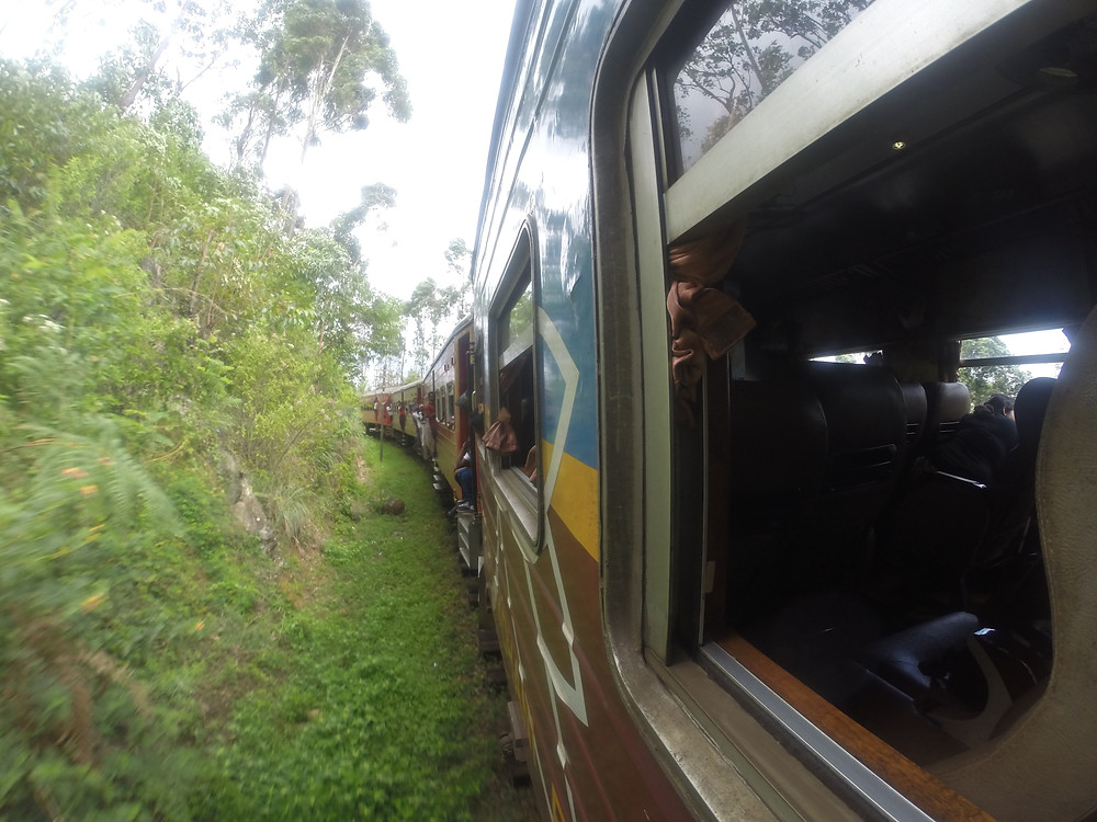 Train winding through Ella on the High Country, Sri Lanka - Life Itinerant