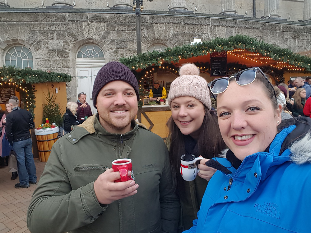 Drinking mulled wine and exploring christmas markets with my friends 2AussiesonTour, Birmingham, UK - Life Itinerant