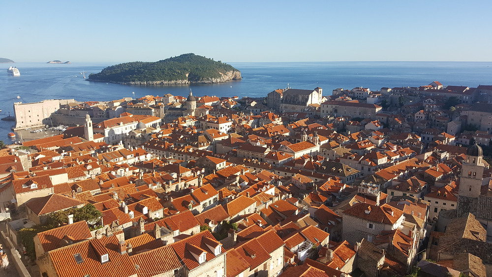 View of Dubrovnic Old Town from the city walls - Life Itinerant