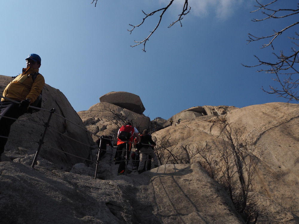 Some of the steeper ascents, Bukhansan -Life Itinerant
