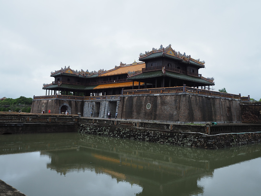The approach and gate to Hue's imperial city - Life Itinerant