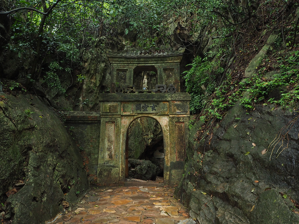 An eerie looking entrance on the Marble Mountains, Danang - Life Itinerant