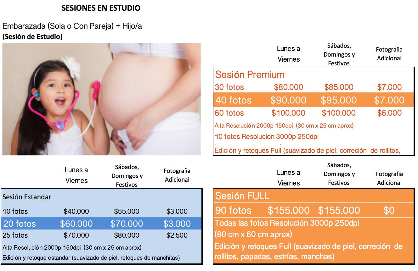 Sesion Embarazada + 1 hijo