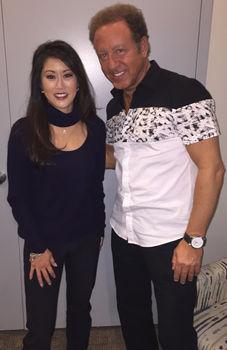 celebrity mentalist Sidney Friedman with Kristi Yamaguchi