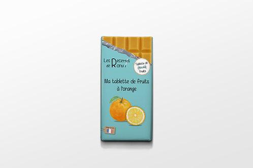 Tablette de fruits à l'orange