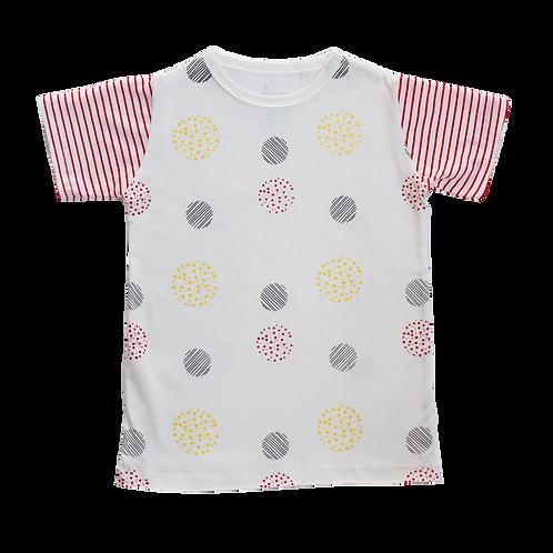 Camiseta Champanhe Bolas - Infantil