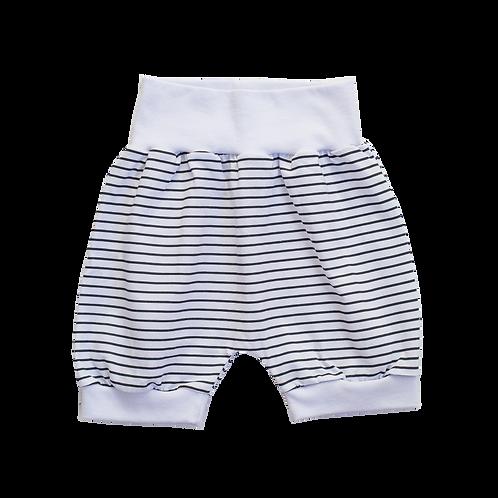 Short Branco Listras