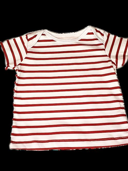 Camiseta Listras Vermelhas