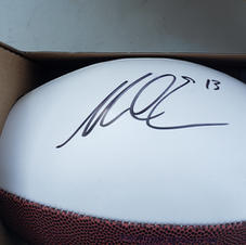 NFL Champ Mike Evans autographed football