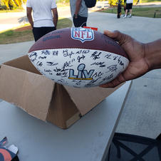 Official NFL Football autographed by the 2021 NFL Champions Tampa Bay Bucs