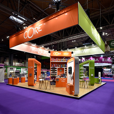 Core stand at Crufts