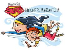 "desenho ""MULHER MARAVILHA"""