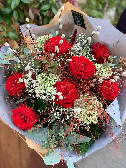 Bouquet romantique champêtre Saint-Valentin