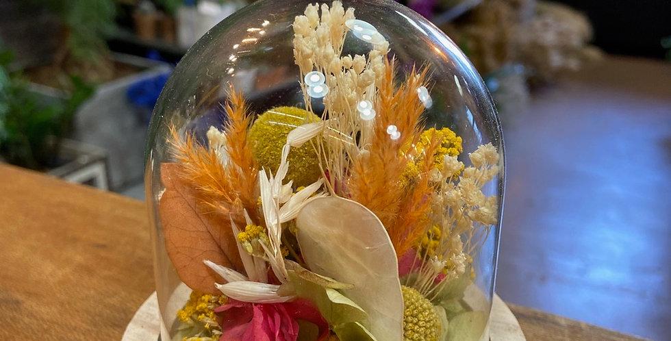 Mini cloche fleurie tons colorés