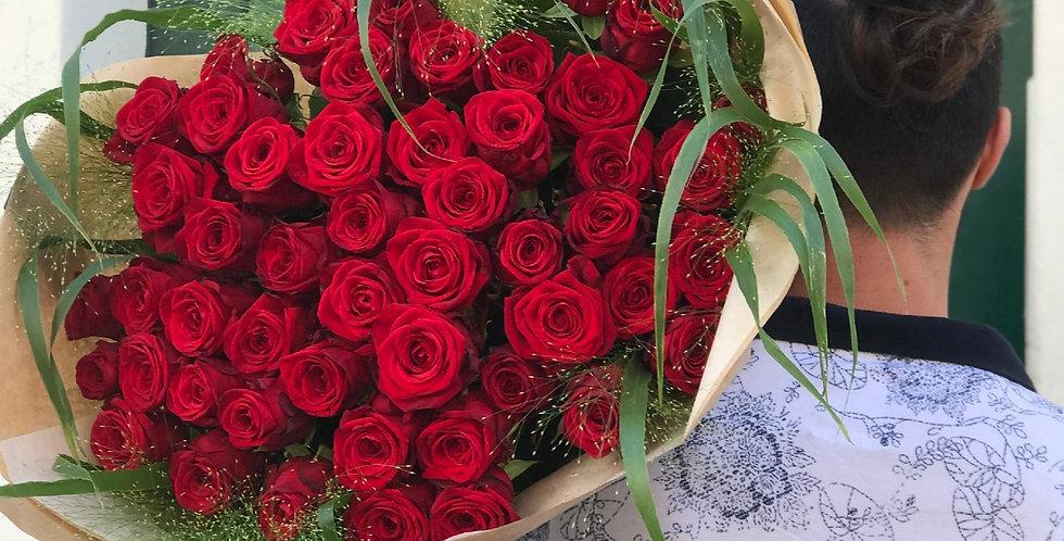Bouquet de roses rouge à Nantes