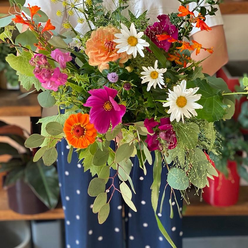 Atelier bouquet de fleurs fraîches et locales