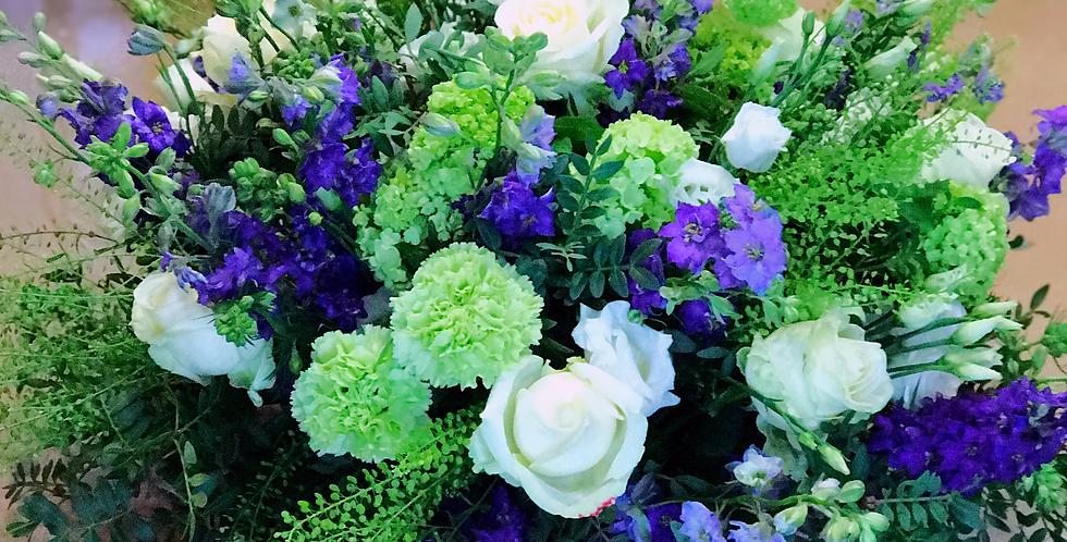 Coussin Rond : Violet & Vert