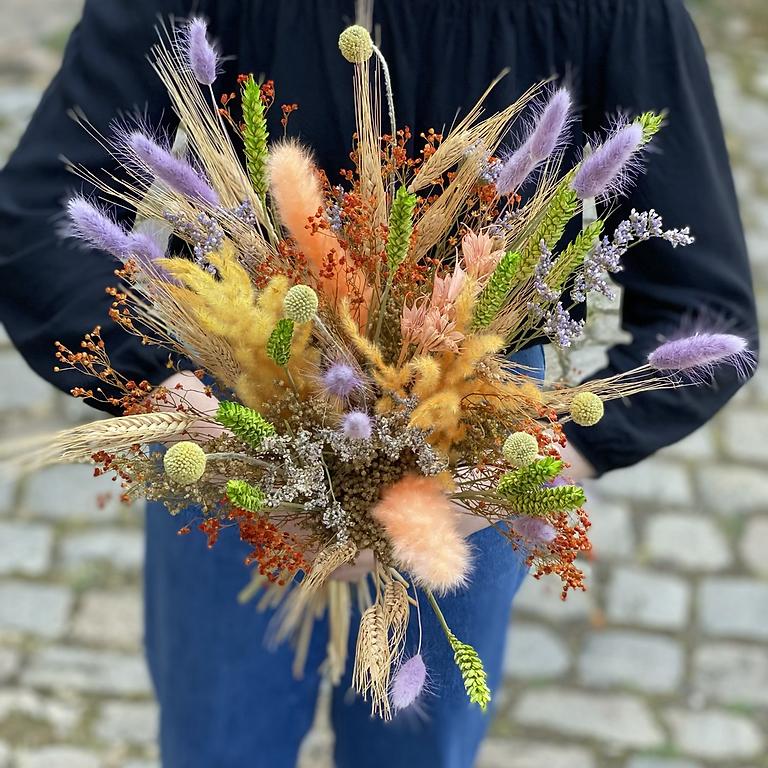 Atelier bouquet de fleurs séchées (vous pouvez apporter vos petits contenant à fleurir)