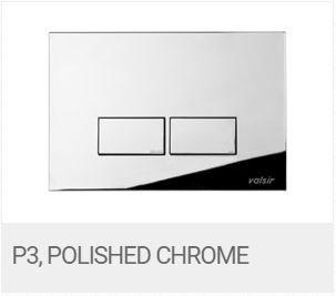 Valsir Dual Flush Push Plate for Winner S - P3 Polished Chrome