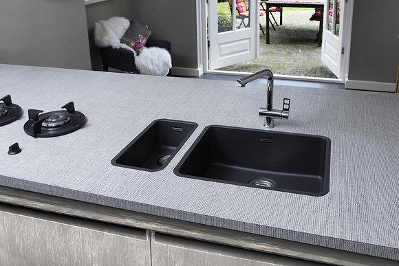 Reginox Ohio Regi-Colour Single Bowl Kitchen Sink Midnight Sky L18x40