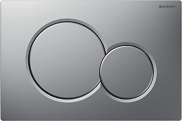 Geberit Sigma 01 Dual Flush Push Plate - Brushed Chrome